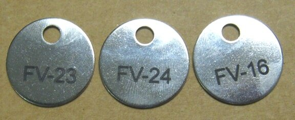 Stainless steel hanging tags