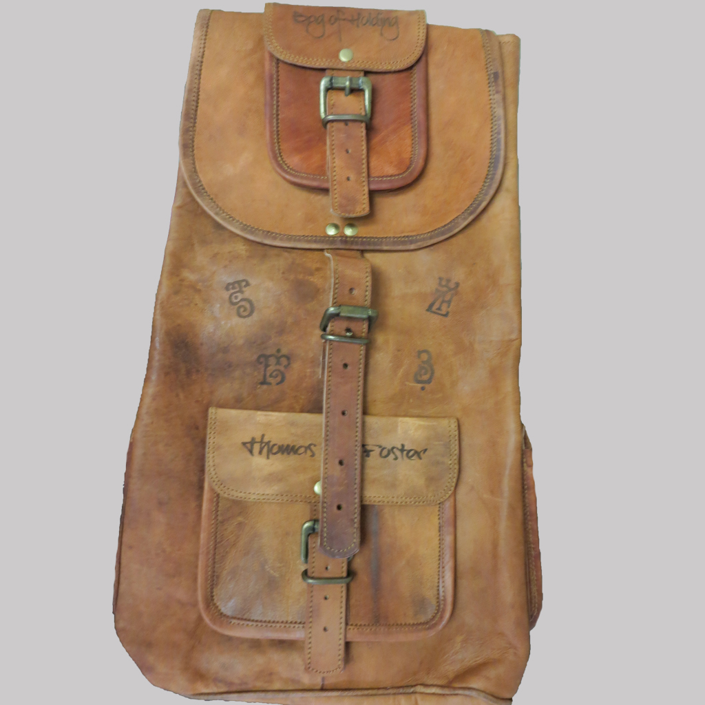 images on leather bag