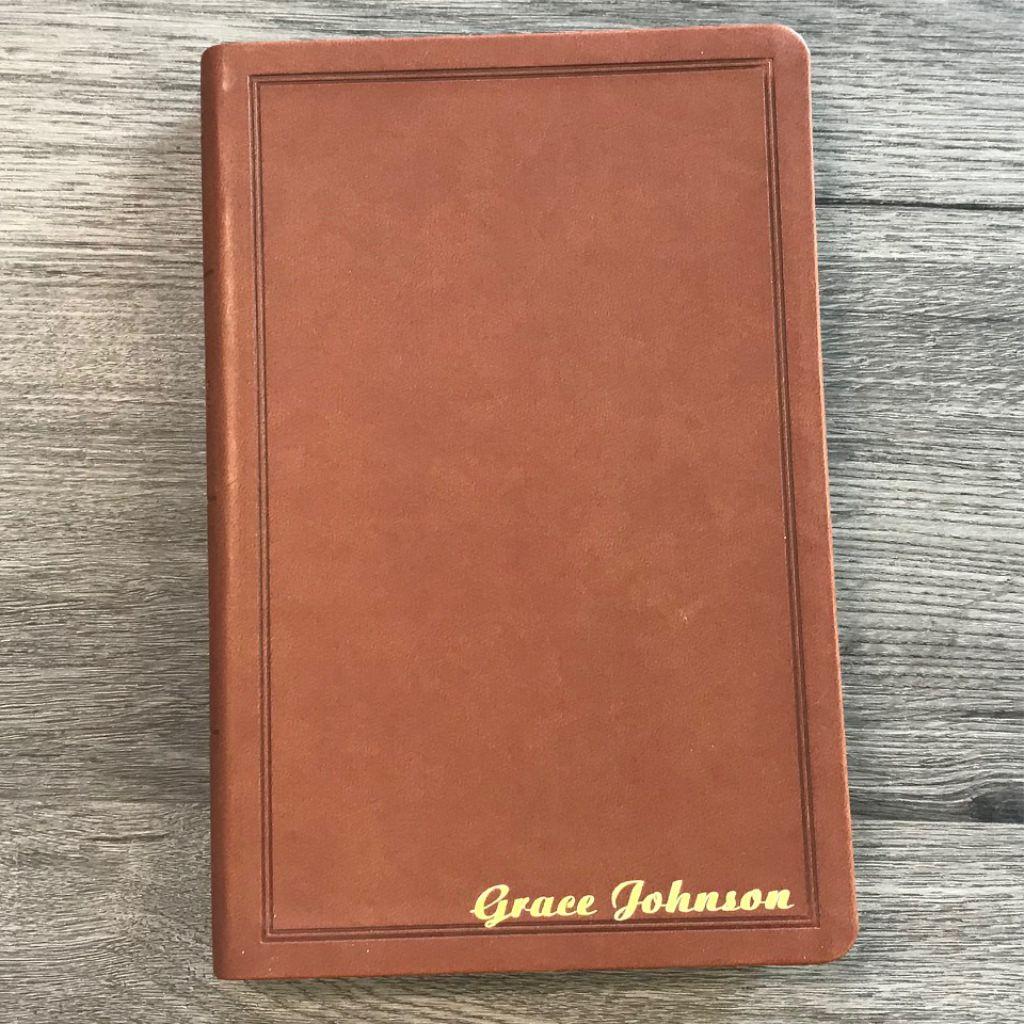 bibles, journals, books